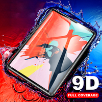 Borda curvada vidro protetor para ipad pro 11 10.5 9.7 2017 2018 protetor de tela para ipad 10.2 mini 5 4 ar 3 2 1 filme temperado|Protetores de tela p/ tablet| |  -