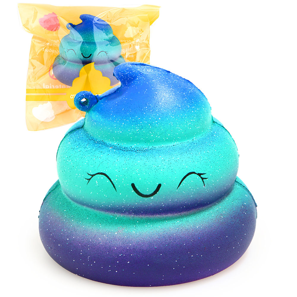Squishy Colorful Slime Poo Slow Rising Cream Scented Original Package Squeeze Toy Gags Practical Jokes Soft toy kids for gifts