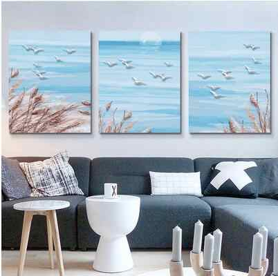 3pcs/set 40*50 diy oil painting by numbers triptych acrylic painting coloring paint by number hand painted love beauty sea