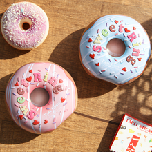 AVEBIEN New Tinplate Chocolate Candy Box Cute Baby Shower Birthday Party Supplies Donut Christmas Decorations for Home