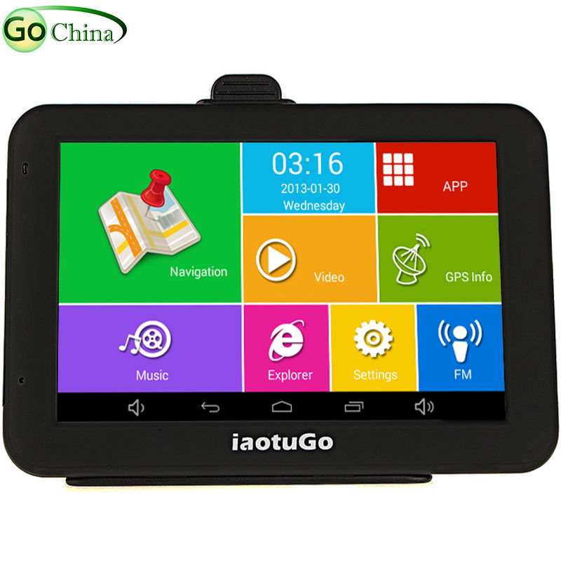 Iaotugo Car-Gps-Navigator Bluetooth Android Gps AV-IN WIFI 5inch 8G MTK8127 Storage Capacitive