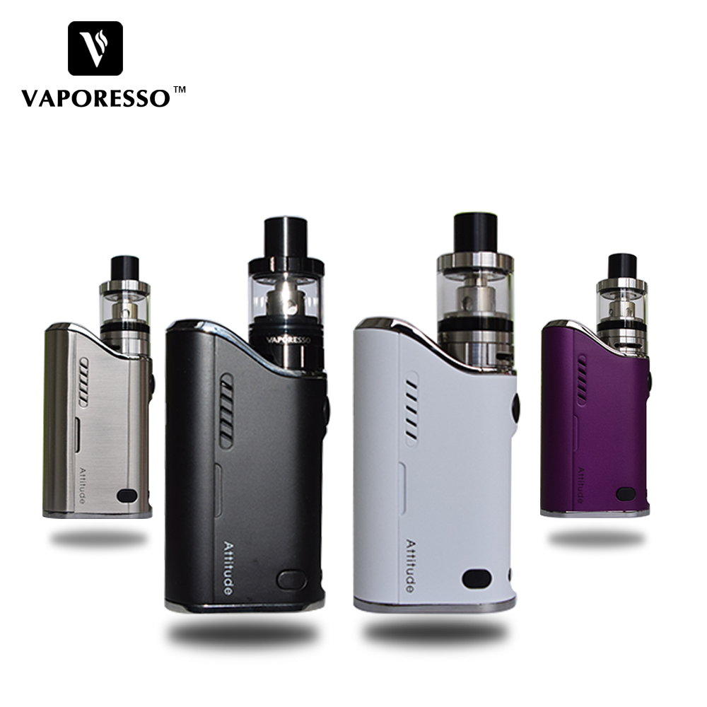 цена New Vaporesso Attitude EUC Kit 80W TC VW Box Mod Vape E Cigarette with Estoc tank Atomizer 2ML 4ML with EUC coil New Arriva