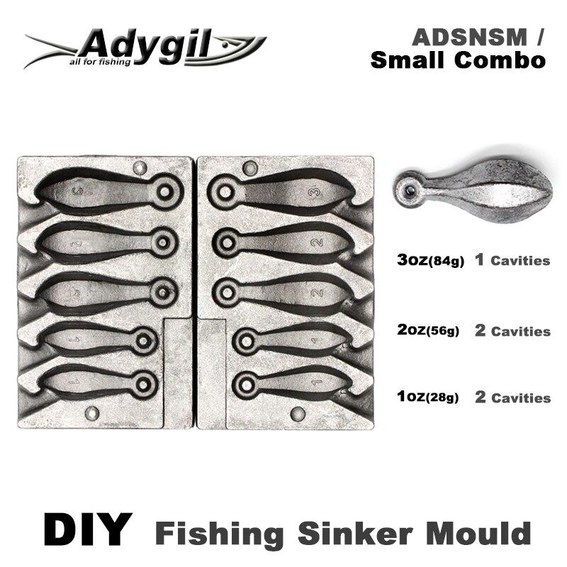 Adygil DIY рыболовный грузило плесень ADSNSM/маленький комбо Snapper грузило 28g 56g 84g 5 полостей|Рыболовные снасти|   | АлиЭкспресс