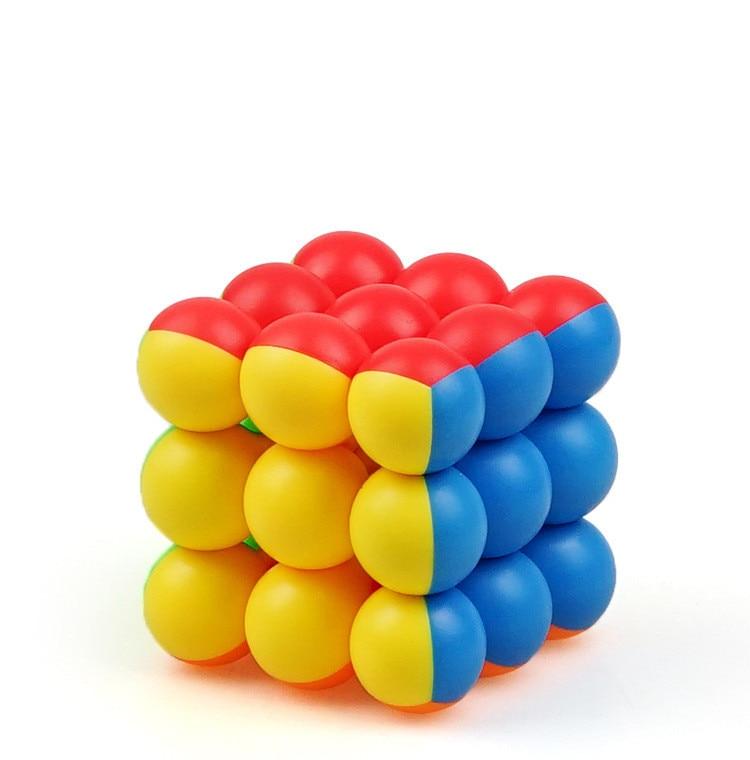 Magic Cubes Professional 3x3x3 6CM Ball Magic Cubes Twist Puzzle Toys For Cute Children Gift Magic Cube