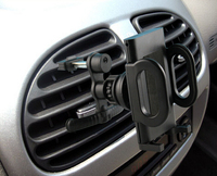Rotary Plastic Car Air Vent Clip GPS Cell Phone Mounts HOlders Stands For Oukitel K6000 Plus