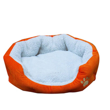 2016 New L Waterproof Warm Soft Pet Dog Cat Bed House Basket Nest Mat – Orange
