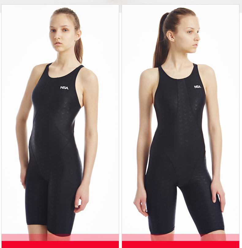 NSA swimwear one piece competition training swimming suit women swimsuit girls kids racing swimsuits knee swim suits 8