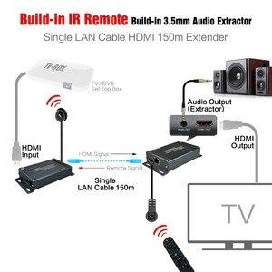 Image 4 - HSV891 IR HDMI エクステンダー以上の TCP IP IR 制御と 3.5 ミリメートルオーディオジャック、 Hdmi 送信機と受信機 1080 経由 Utp/STP Rj45