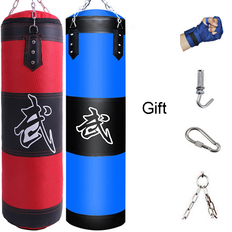 Punch Sandbag Durable Boxing Heavy Punch Bag With Metal Chain Hook Carabiner Fitness Training Hook Kick Fight Karate Taekwondo