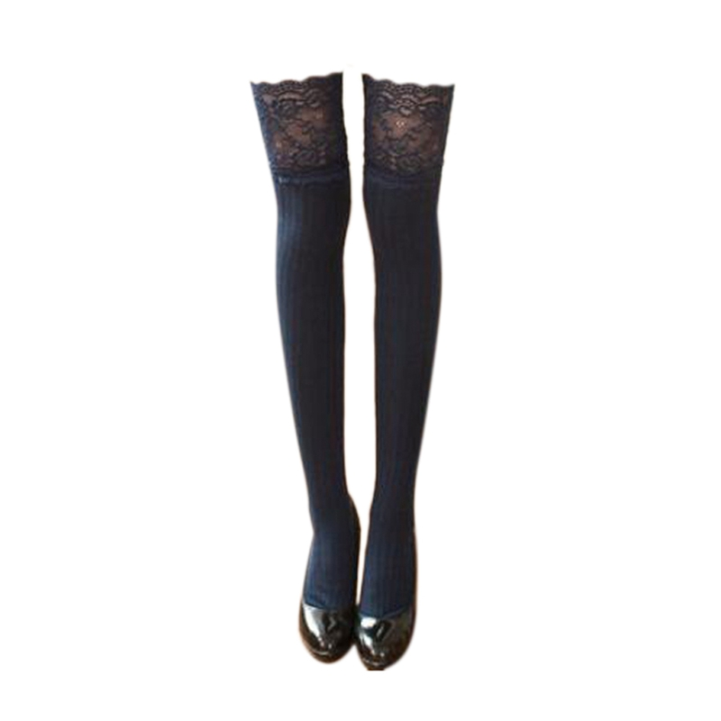 Lace Stockings Warm Thigh High Stockings Over Knee Socks Long Stockings