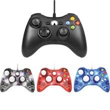 USB Wired Gamepad Per Xbox 360 Controller Joystick Per Microsoft PC Controle Per Finestre 7/8/10