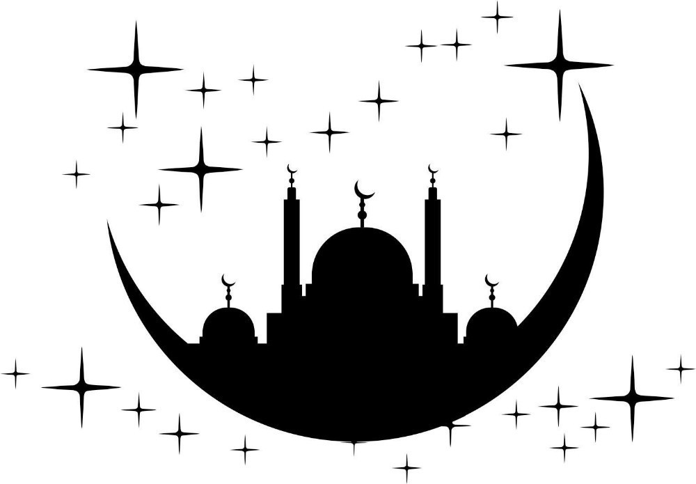 Islamic Moon and Star Mosque Wall Stickers Vinyl Removable