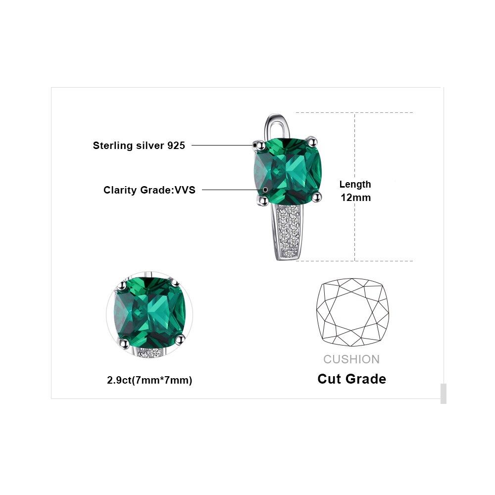 JewelryPalace Yastığı 3.1ct Yaşıl Zümrüd Klip Sırqalar 100% - Gözəl zərgərlik - Fotoqrafiya 5