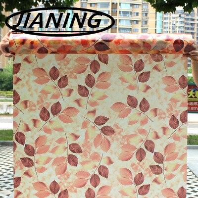 60 cm * 200 cm Blad kleur film matglazen schuifdeur raam sticker ...