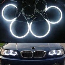 Бесплатная Доставка CCFL фар angel eyes (4 кольца и 2 ccfl Инвертором), Ccfl Halo кольца для BMW E36, E38, E39, E46 (С Проектором)