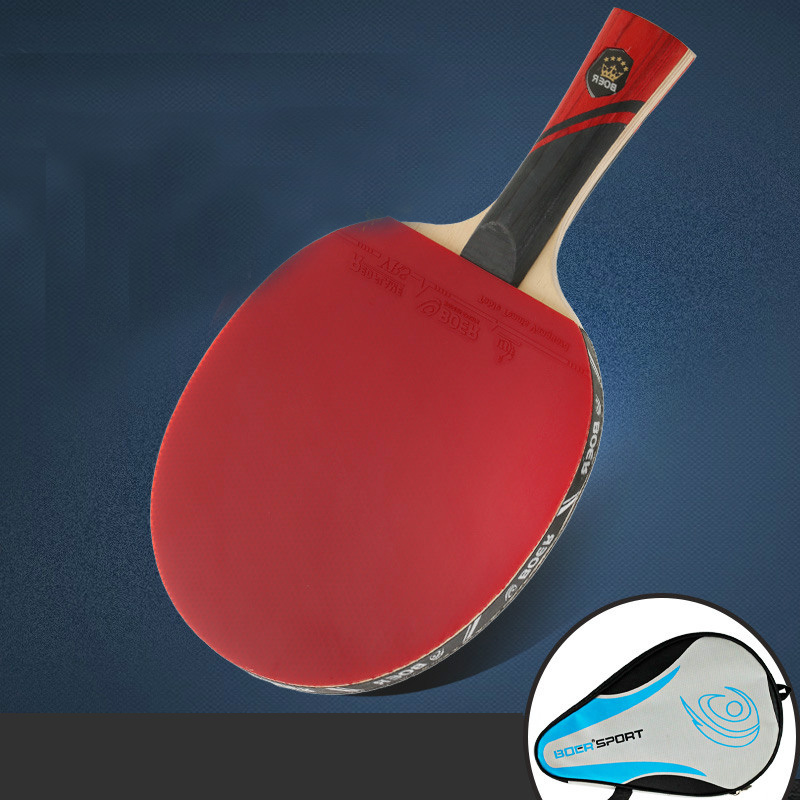 1 Piece Professional 7 Layers Table Tennis Bat Racket Long Short Handle Ping Pong Paddle Racket Practice Pimples In With Bag