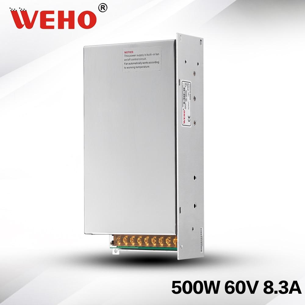 (S-500-60) AC to DC CCTV Camera power supply 60v 8.3a 500w with CE ROHS approved s 500 60 ac to dc cctv camera power supply 60v 8 3a 500w with ce rohs approved