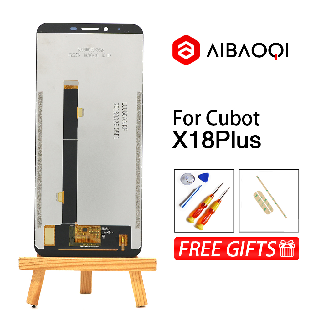 Image 2 - AiBaoQi New Original 5.99 inch Touch Screen+2160x1080 LCD Display Assembly Replacement For Cubot X18 Plus Android 8.0 Phone-in Mobile Phone LCD Screens from Cellphones & Telecommunications