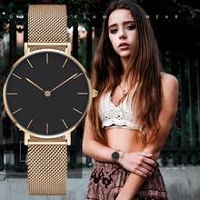 Fashion Luxury Stainless Steel Analog Quartz Wristwatch ladies women Wrist