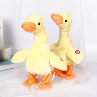 Electric Duck Plush Toy Sing Dancing Interactive Stuffed Animal Funny Duck Plush Toys Birthday Gifts For Baby and Children