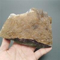 Natural Rock Amethyst Green Yellow Fluorite Crystal Quartz Rough Stone F1006