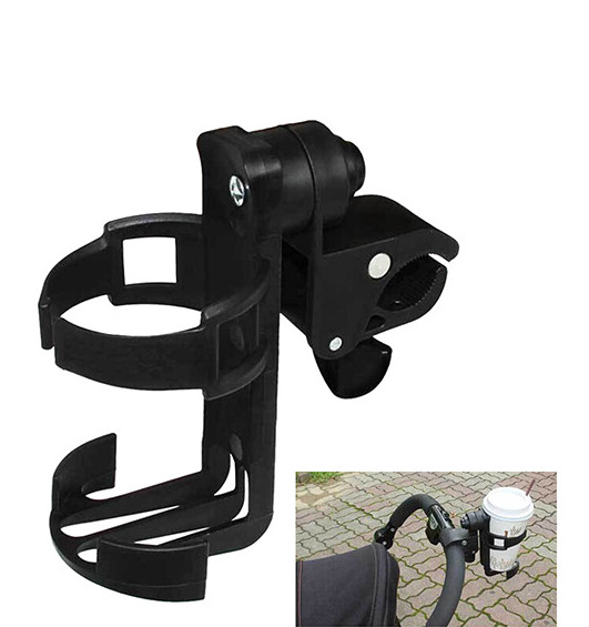 TG37 Baby Infant Stroller Bicycle Carriage Cart Accessory Bottle Cup Holder (Black) baby infant bottle cup holder parent console plastic organizer cup holder stroller bottle holder stroller carriage accessory
