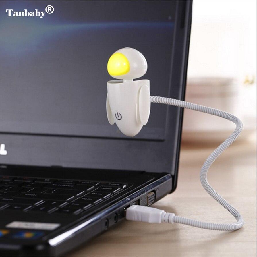 Tanbaby Креативный светодиодный ночник мультфильм USB гибкая Регулируемая яркость ночника для компьютера Тетрадь ноутбука Планшеты стол
