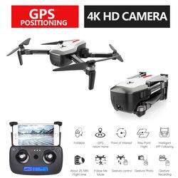 X193 GPS Drone Con Il Wifi FPV 4 K HD Camera Brushless Quadcopter 23 minuti Tempo di Volo di Controllo Gesto Pieghevole Dron vs F11