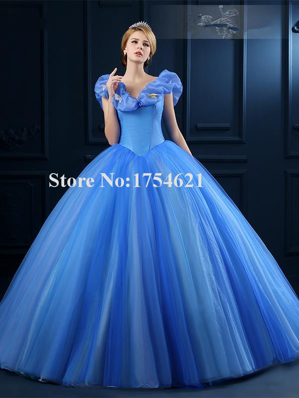 cinderella quinceanera dresses vestidos para 15 anos debut ball gowns blue beautiful for sweet girl dress ball gown custom made-in Quinceanera Dresses ...