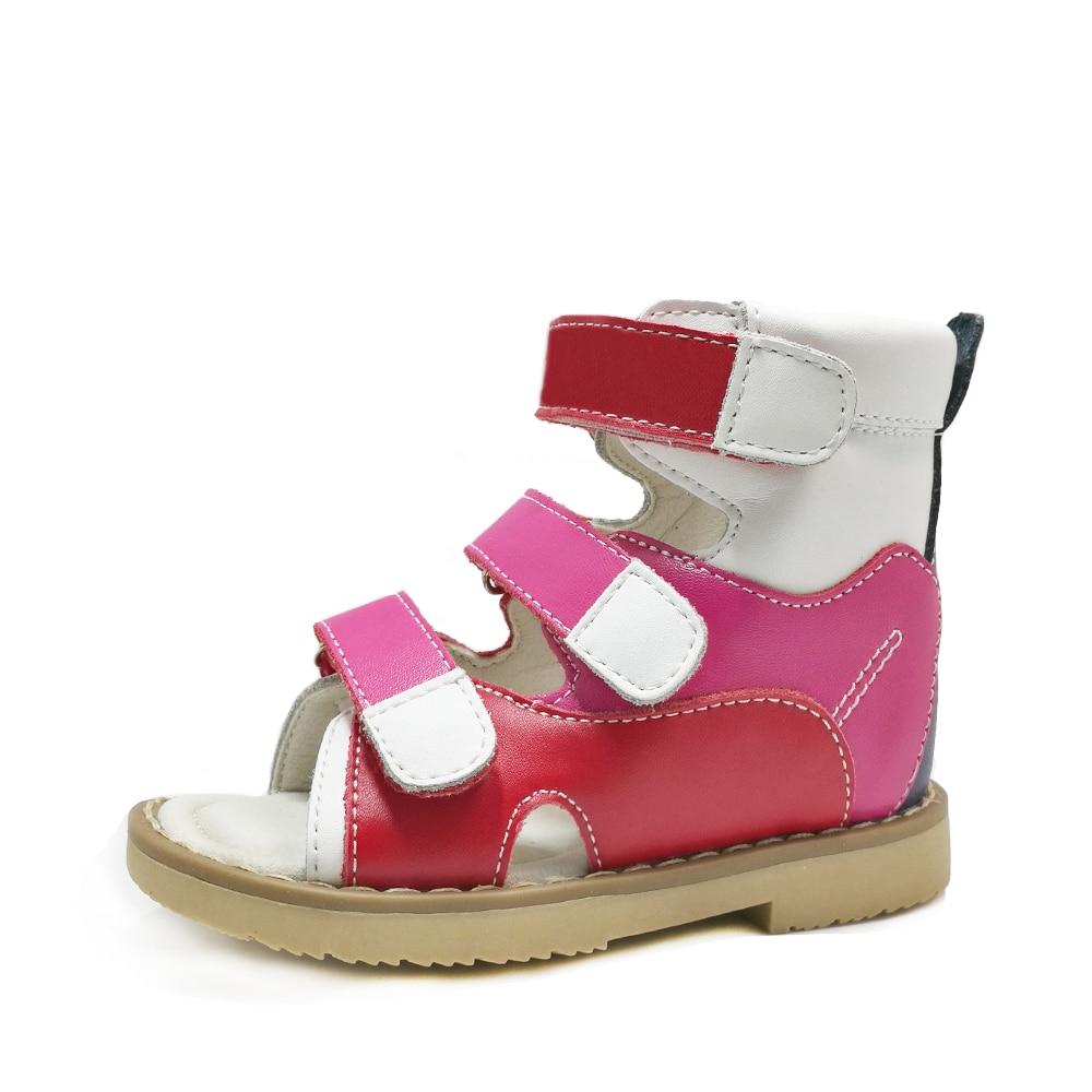 Enfants En Cuir Sandales Orthopédiques pour Les Filles D'été Garçons Mode avec Semelle intérieure pour Enfants Flatfoot Stable Cheville Chaussures