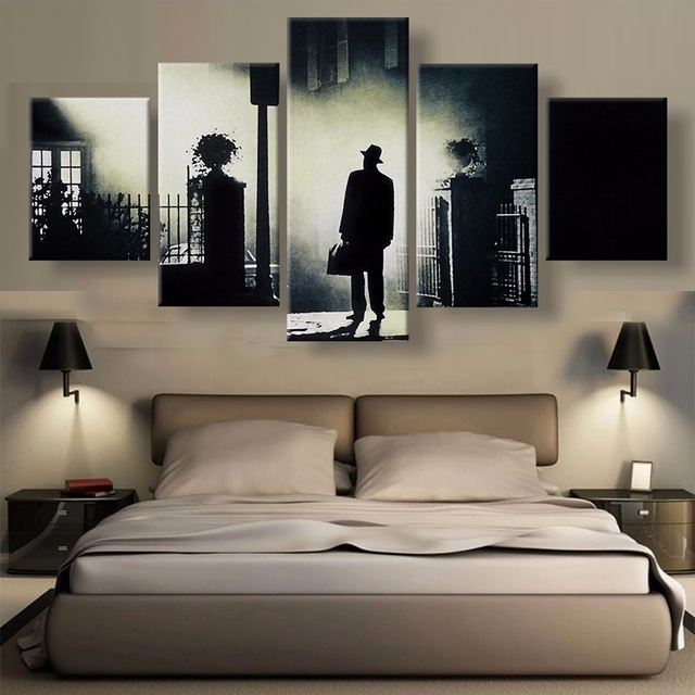Modern Canvas Wall Art Frame Bedroom Home Decor Hd Printed Pictures 5 Pieces The Exorcist Painting