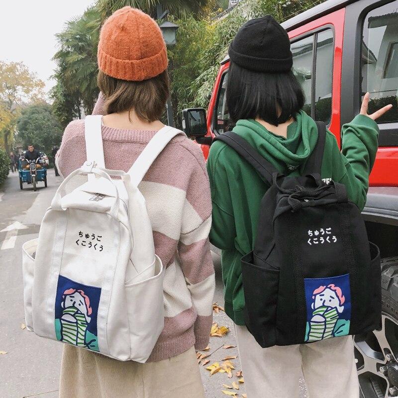 Mode femmes Harajuku sac à dos toile tissu sacs à dos filles sacs d'école voyage sac à dos étudiants fille cartable Mochila cadeau