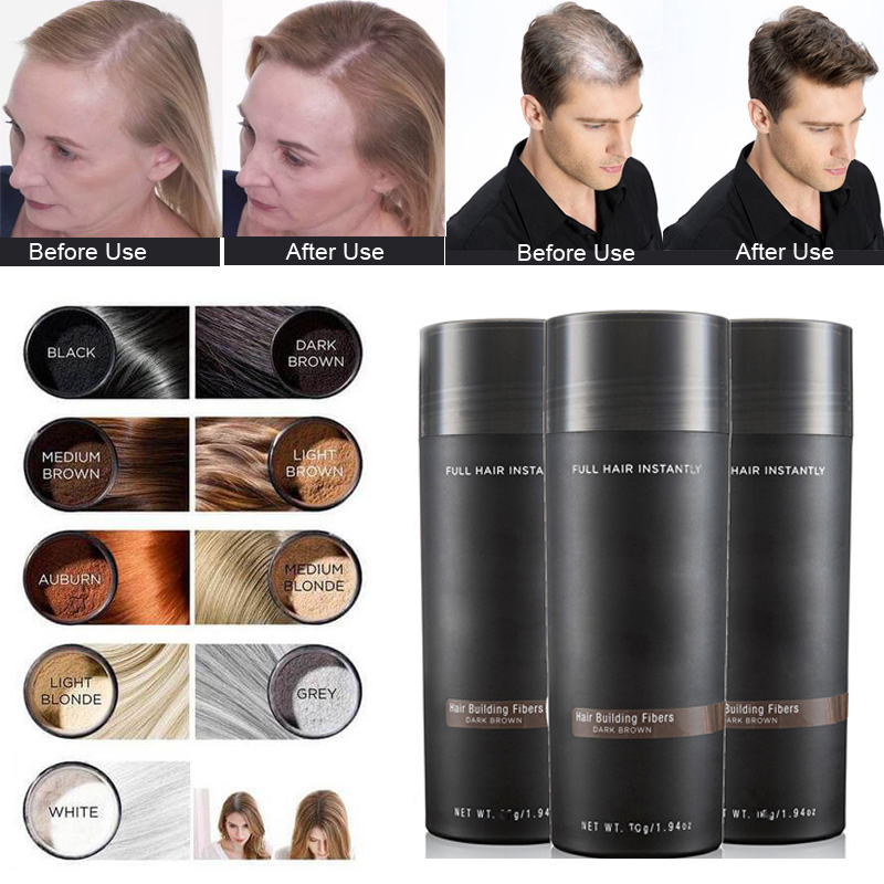 Women Men Natural Hair Root Cover Up Hair Thickening Building Fibers Hair Loss Concealer S