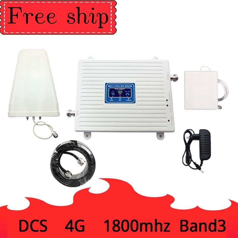 DCS 4G signal booster 4g cellulaire répéteur de signal booster 1800 mhz tri-bande mobile signal de téléphone répéteur 15 mètres câble