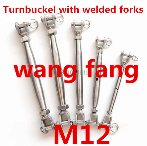 1PCS Closed Body Jaw <font><b>Turnbuckle</b></font> M12 for Tighten Taut Rope Stainless Steel 304 image