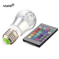 SXZM RGB spot led bal lamp 3 W E27 crystal led lamp licht AC85-265V RGB led lamp 16 kleurverandering met afstandsbediening