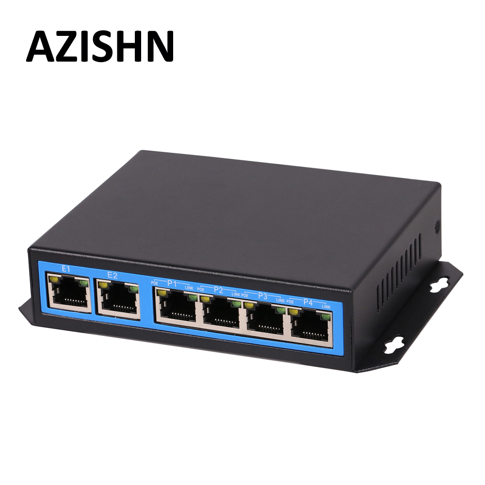 CCTV PoE Net Switch 4-Port 10/100M Hub Power Over Ethernet PoE&Optical Transmission 15W For IP Camera System Network Switcher 4 port poe switch 10 100m power over ethernet poe