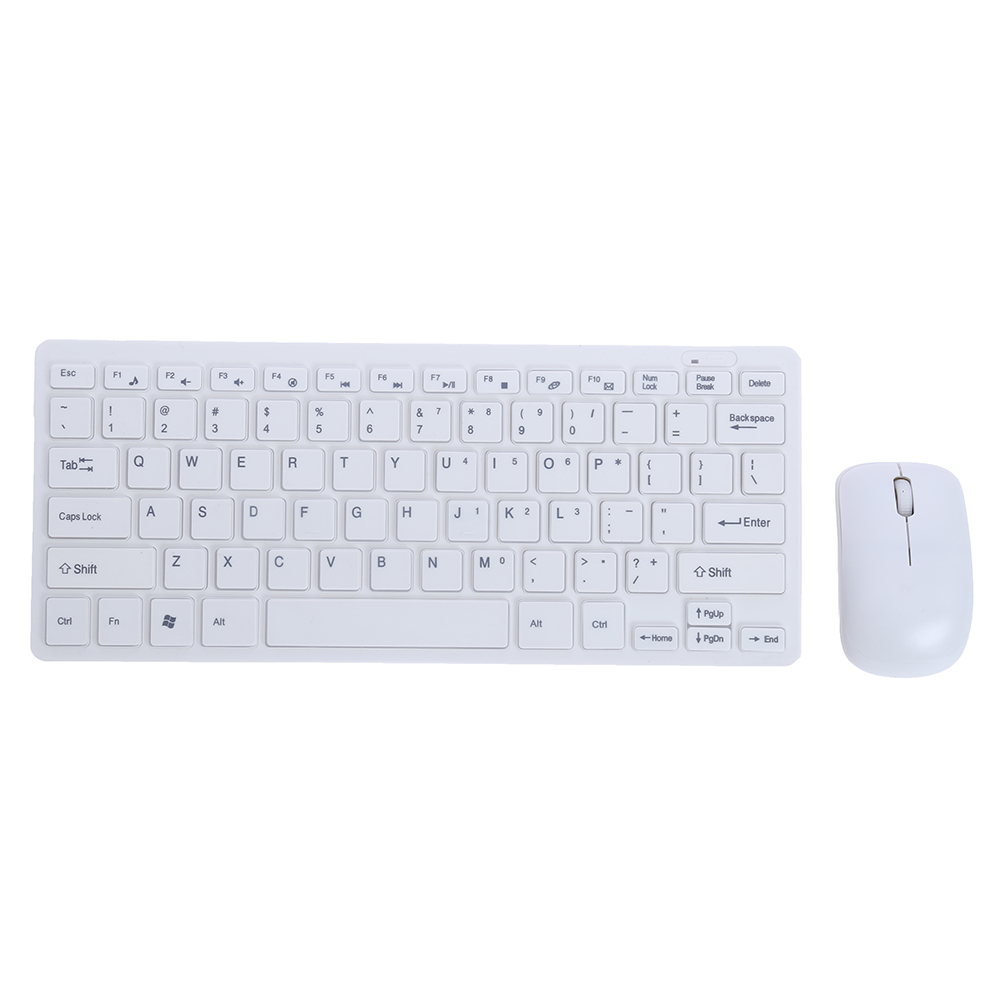 Ultra Thin 2.4GHz Wireless Mini Gaming Keyboard + Cover and Wireless Mouse Keyboard Kit Set for PC Computer Desktop Laptop