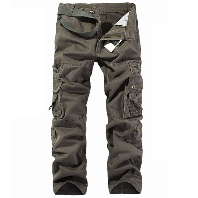 New Brand 2017 Men Pants Military Army Cotton Cargo Pants Men Solid Casual Multi Pocket Trousers 5 Colors