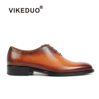 2018 Superstar Vikeduo Handmade Vintage Genuine Leather Shoe Wedding Formal Luxury Party Dress Unique Design Men