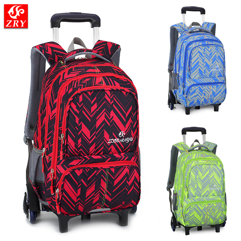 New Children School Bags Trolley Backpacks For Boys Schoolbag Kids Luggage Bag On Wheels Backpack Men Bolsas Mochila Escolar
