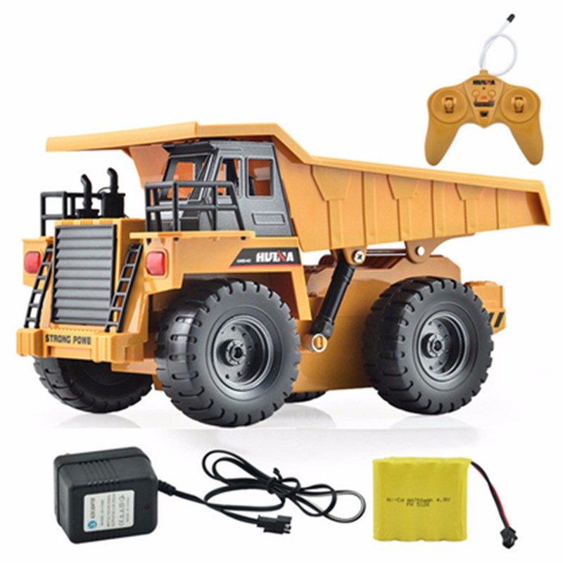 Huina Toys 1540 Six Channel 6ch 1 12 40hmz Rc Metal Dump Truck Remote Control Rtr With Charging Battery In Cars From Hobbies On