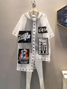Женская футболка с коротким рукавом XITAO, летняя свободная футболка с круглым вырезом и принтом в виде букв, WBB3401, 2019