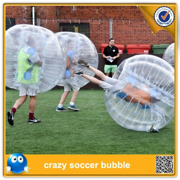 Бесплатная Доставка! Надувные Человеческого бампер bubbleball Футбол игрушки, хитрый мяч для наружной весело спорта, Zorb игрушка