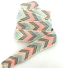 NEW 1'' 25mm 10yard/lots 100% polyester Color arrow geometry Woven Jacquard Ribbon dog chain accessories KTZD16040104