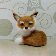 1Pcs Simulation Small Fox Toy Mini Squatting Fox Model Home Decoration Wedding Birthday Gif