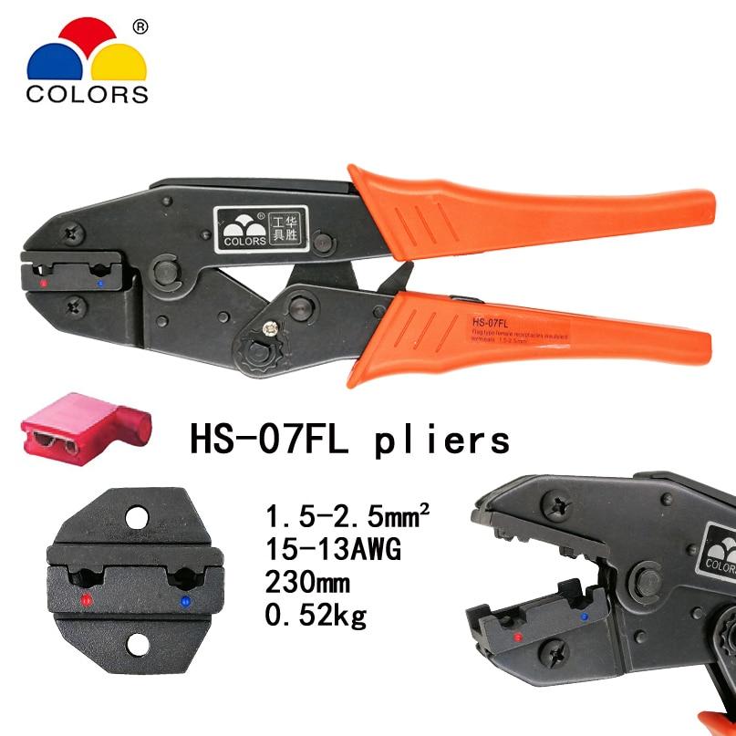 Werkzeuge Farben Hs-07fl Für Flagge Typ Weibliche Buchsen Isoliert Terminals 1,5-2.5mm2 15-13awg Crimpen Zangen Anschlüsse Marke Werkzeuge
