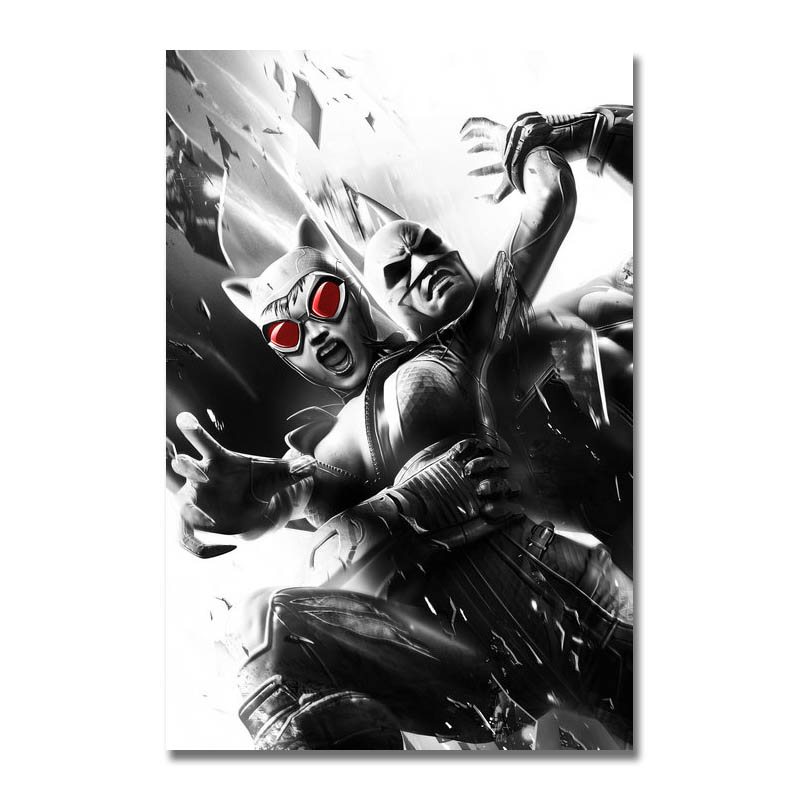 Art Silk Or Canvas Print Batman Arkham City Hot Game Poster 13x20 24x36 inch For Room Decor Decoration-004 image