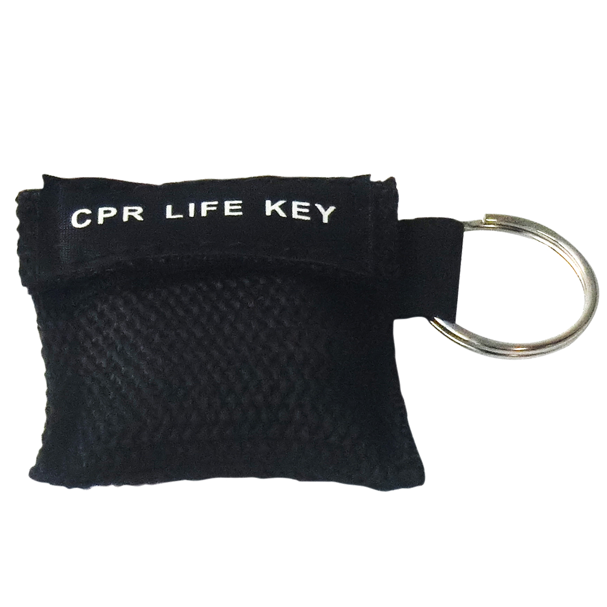 100Pcs/Pack CPR Resuscitator Keychain Mask Key Ring Emergency Rescue Face Shield Black new 10pcs pack big first aid cpr rescue face shield mask portable face shield oxygen inlet resuscitator