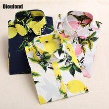Dioufond blusas femininas блузки блузка маленький цветочные летние футболки рубашка цветок